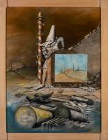 MÜLL 3 #18 06/1992 50/40 cm Öl auf Malpappe