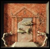 """ - IV - Der Tempelfisch"" #129 - 2013/01 - 47/47/6 cm - Öl auf Malpappe - Holz - geschnitzt -bemalt Öl"